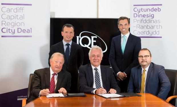 Free Press Series: The agreement with IQE to move into the former LG site in Newport was signed by the Welsh and UK Governments and council leaders in 2017