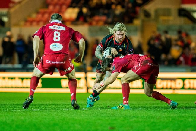 LEADER: Former Wales hooker Richard Hibbard had a superb first season with the Dragons