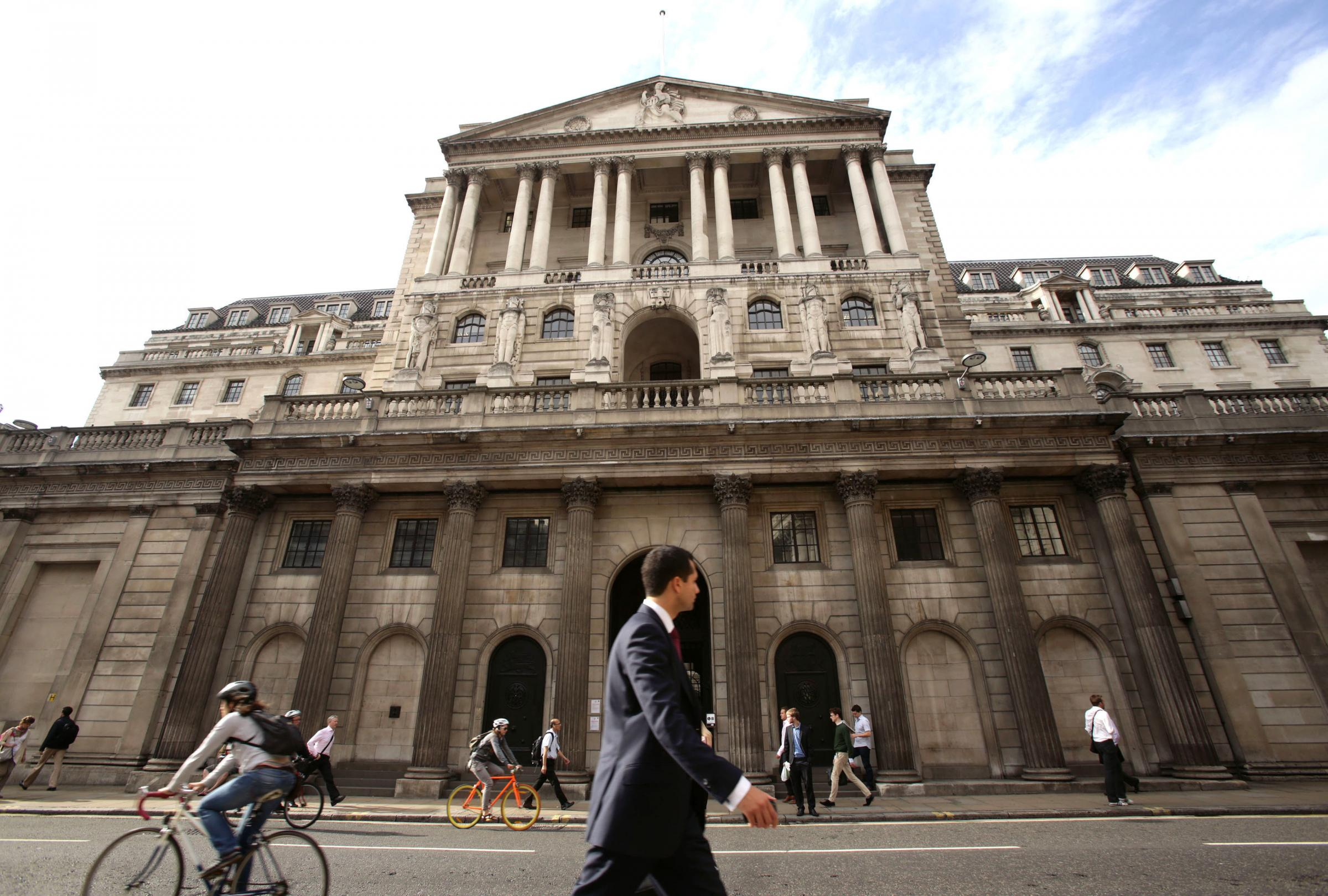 File photo dated 11/08/14 of the Bank of England in London. Consensus estimates predict Office for National Statistics (ONS) figures will reveal on Wednesday that the Consumer Prices Index (CPI) rate of inflation fell to 2% last month, reaching the centra