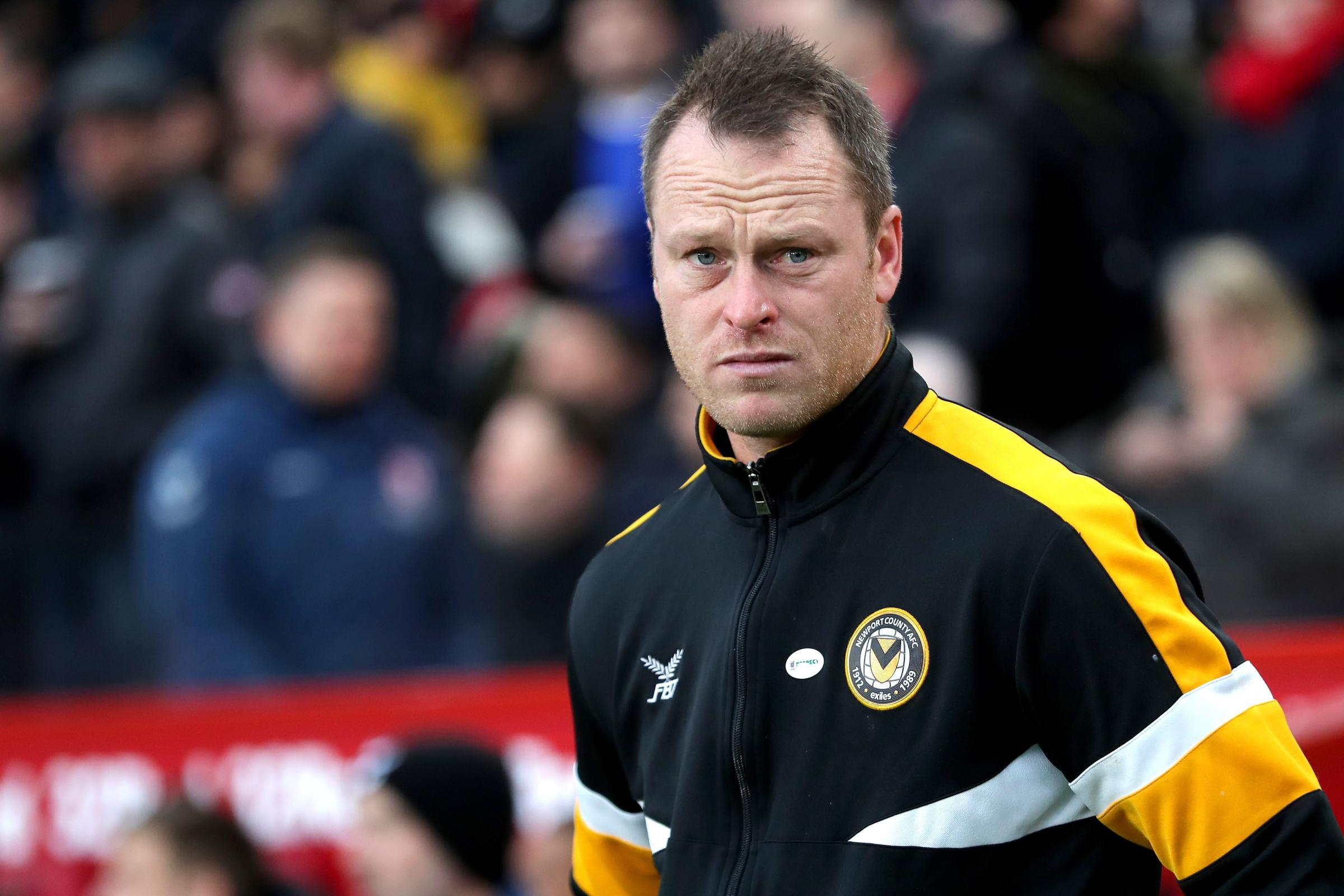 Newport manager Michael Flynn believes the heavy Rodney Parade pitch will help them in their FA Cup tie against Manchester City