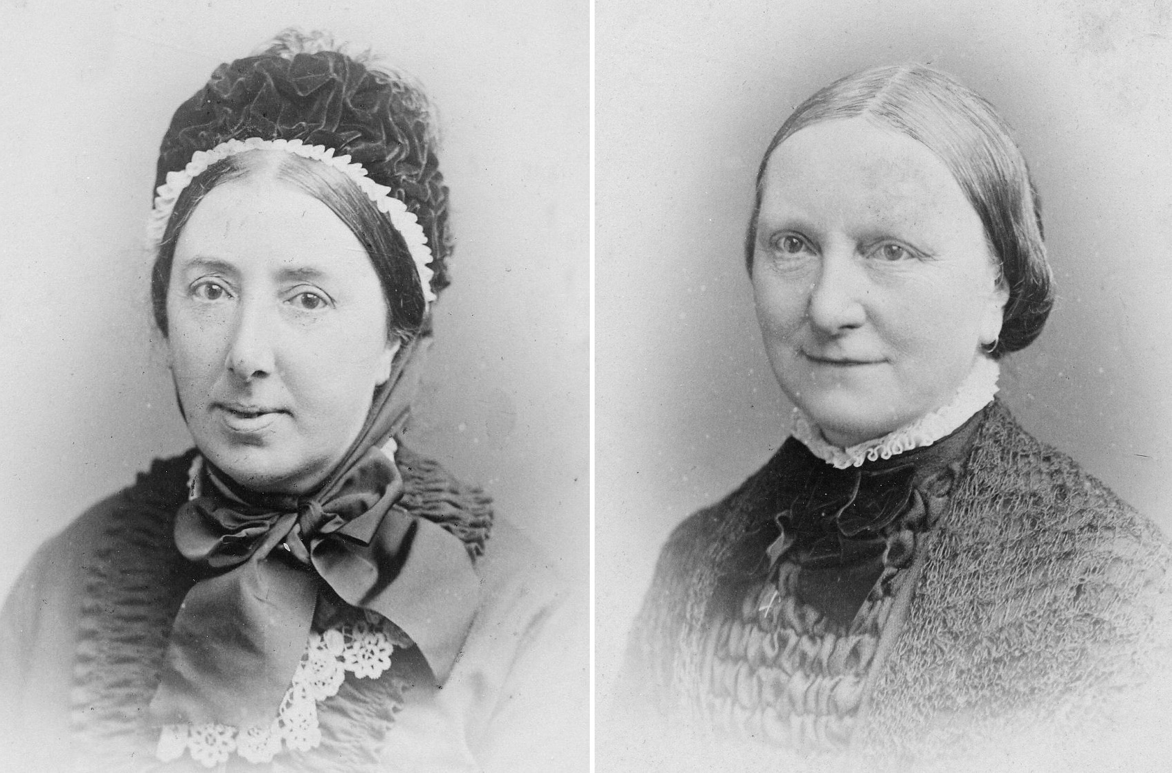 Eleanor (left) and Georgiana Ormerod. Photographs from the collections of Chepstow Museum, ©Monmouthshire Museums