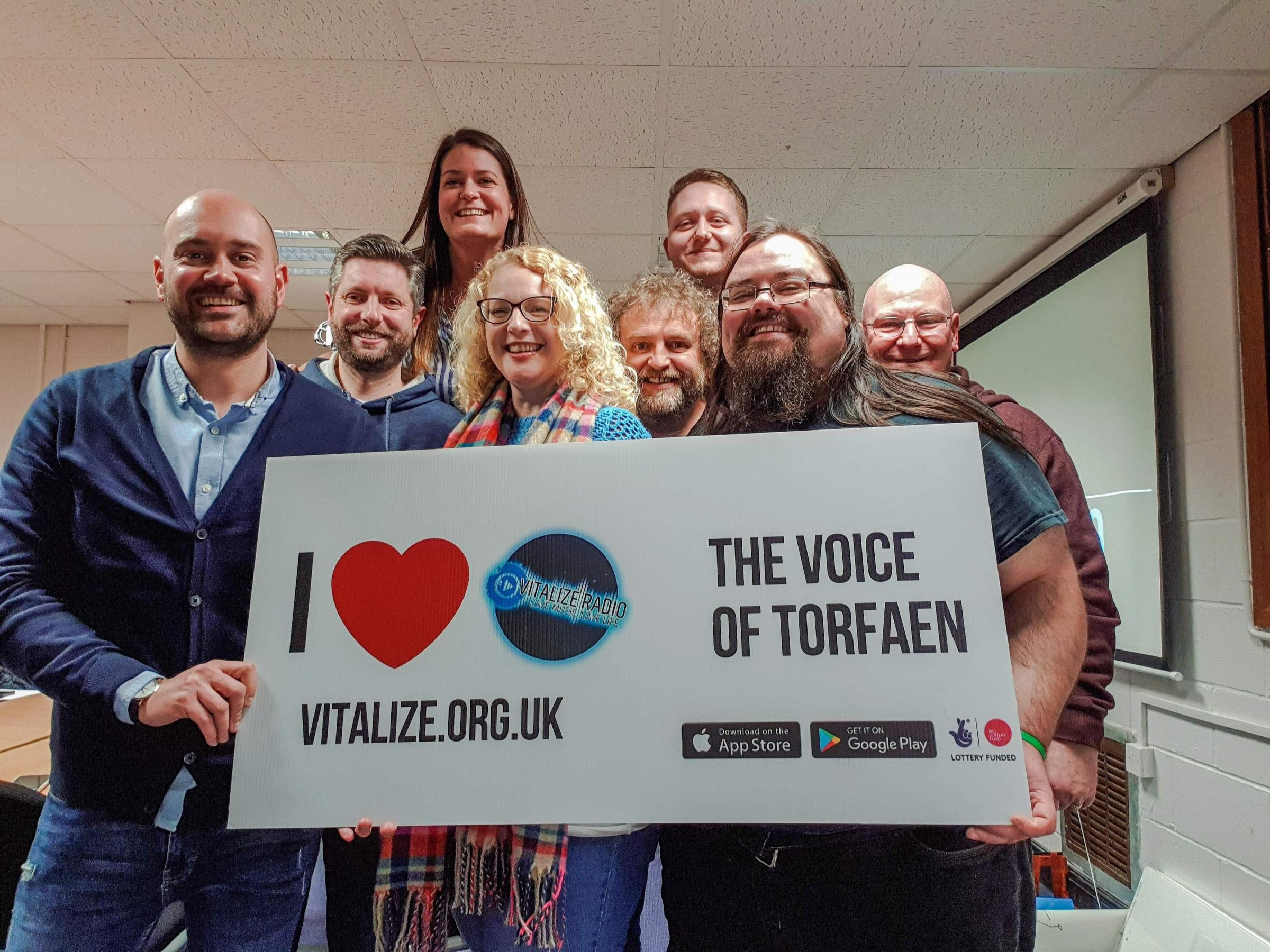 The team at Vitalize Radio will offer practical training to schoolchildren in Torfaen as part of the project. Picture: Dan Williams
