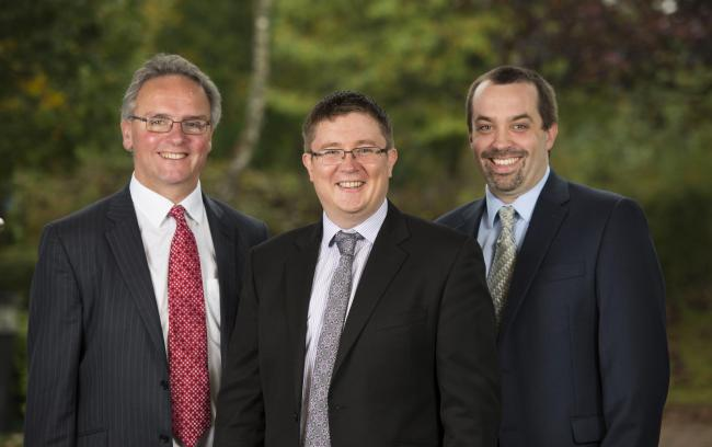 (L-R): Partners at Green & C0: Nick Park, Barrie Kenyon & Ed Gooderham)