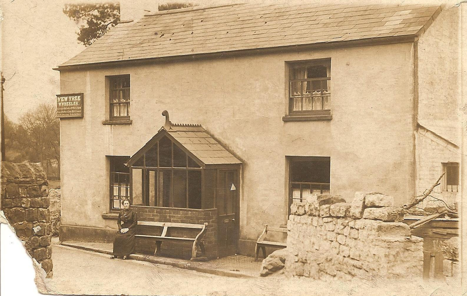An early twentieth century photograph of The Yew Tree Inn in Trevethin. Picture: Torfaen Museum.