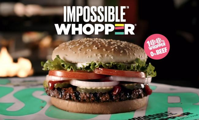 Burger King is trialling a new plant-based burger made from ingredients including soy protein, coconut oil and potato protein.