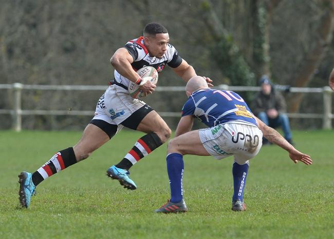 CUP UPSET: Wing Lloyd Lewis and Pontypool will aim to add Merthyr to the scalp of Bridgend (Picture: www.christinsleyphotography.co.uk)