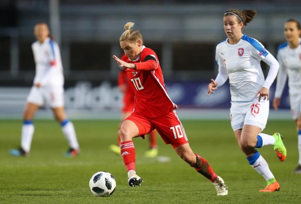 Free Press Series: STAR: Jess Fishlock on the charge for Wales at Rodney Parade