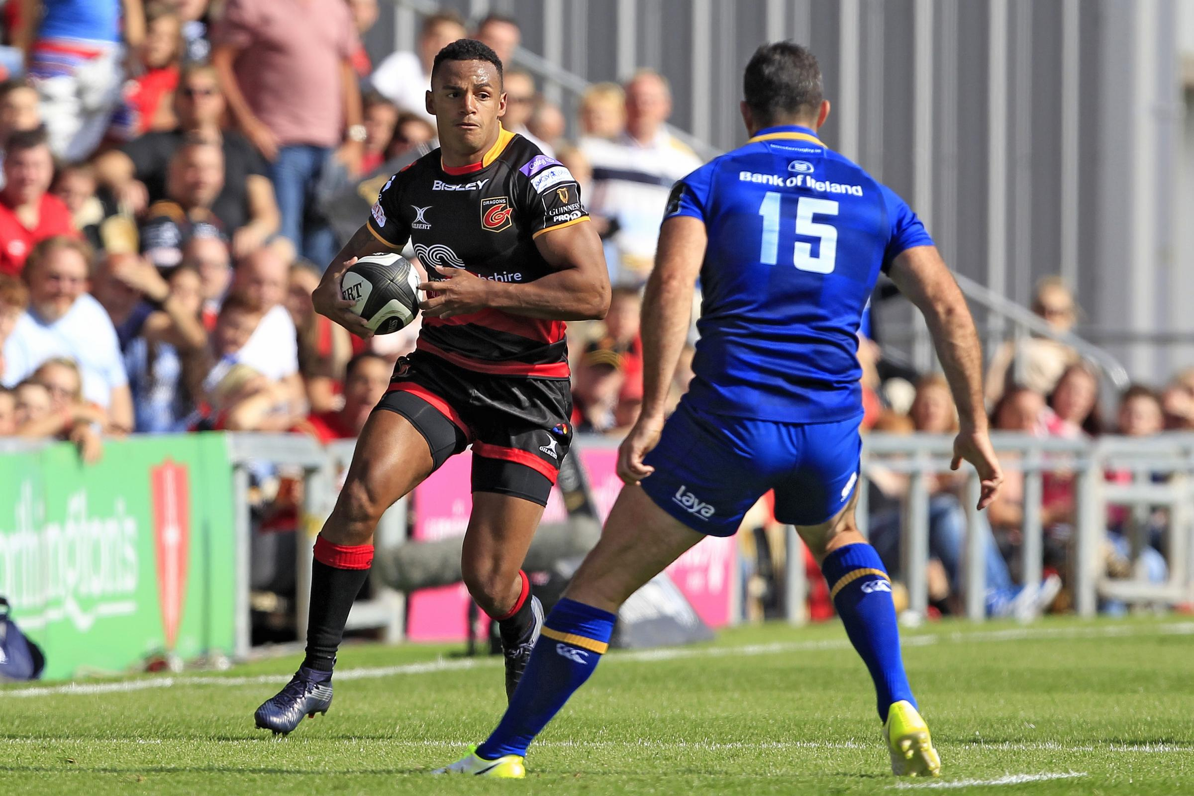 NEW DEAL: Wing Ashton Hewitt has signed a contract to stay with the Dragons