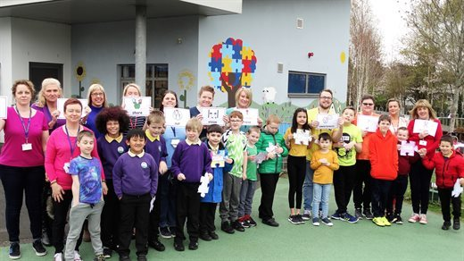 Pupils from Nant Celyn Primary ASD base celebrated Autism Awareness week. Picture: Torfaen Council