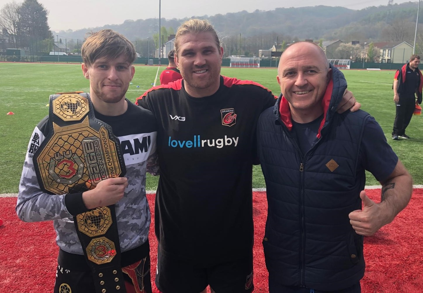 UP FOR THE FIGHT: From left, MMA world champion Jack Shore, Richard Hibbard and Richard Shore. Picture: Cage Warriors