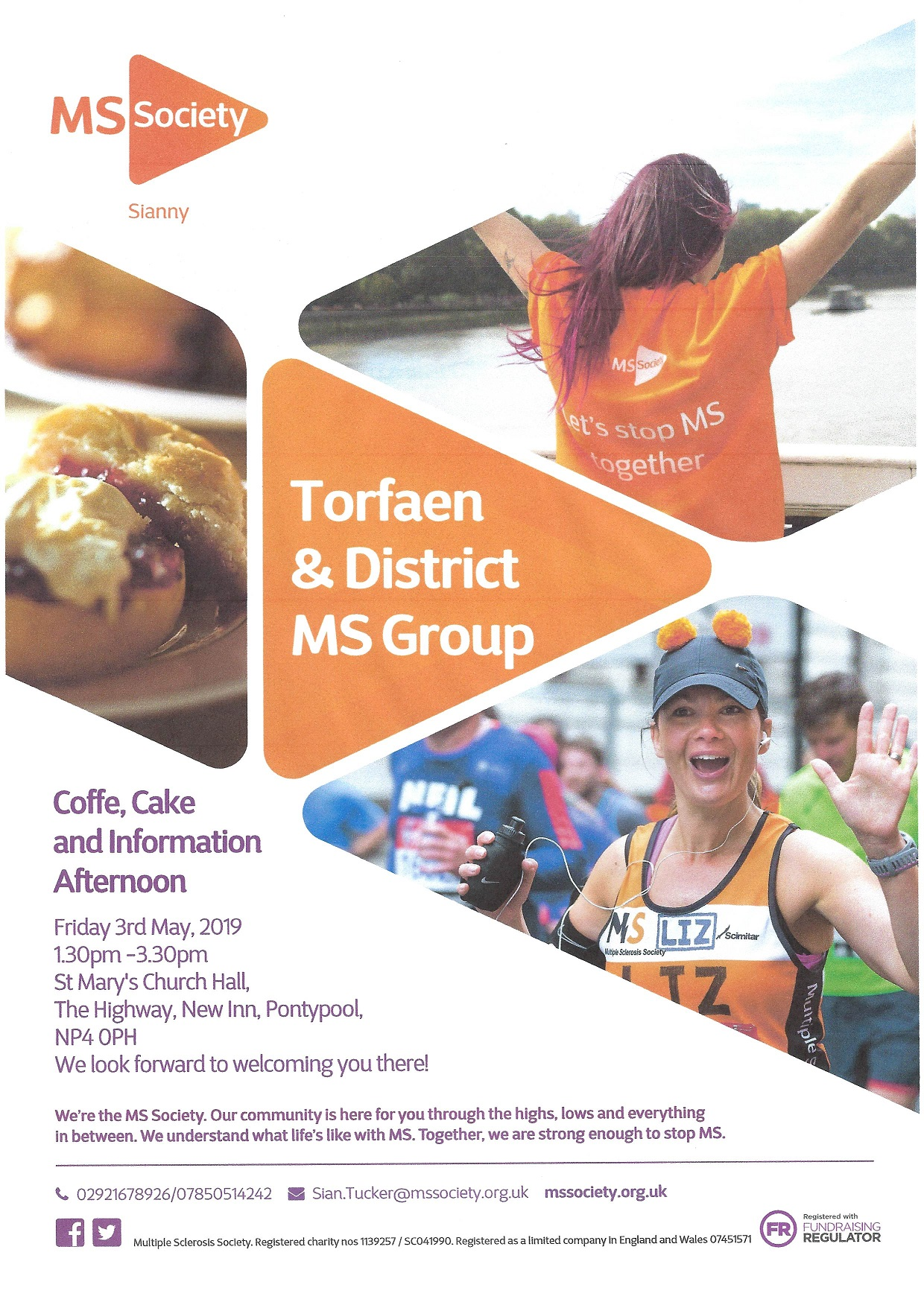 Coffee, cake & information about MS