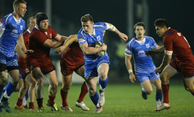 STAR MAN: Dragons flyer Dafydd Howells scored a hat-trick for Ebbw Vale against Bedwas