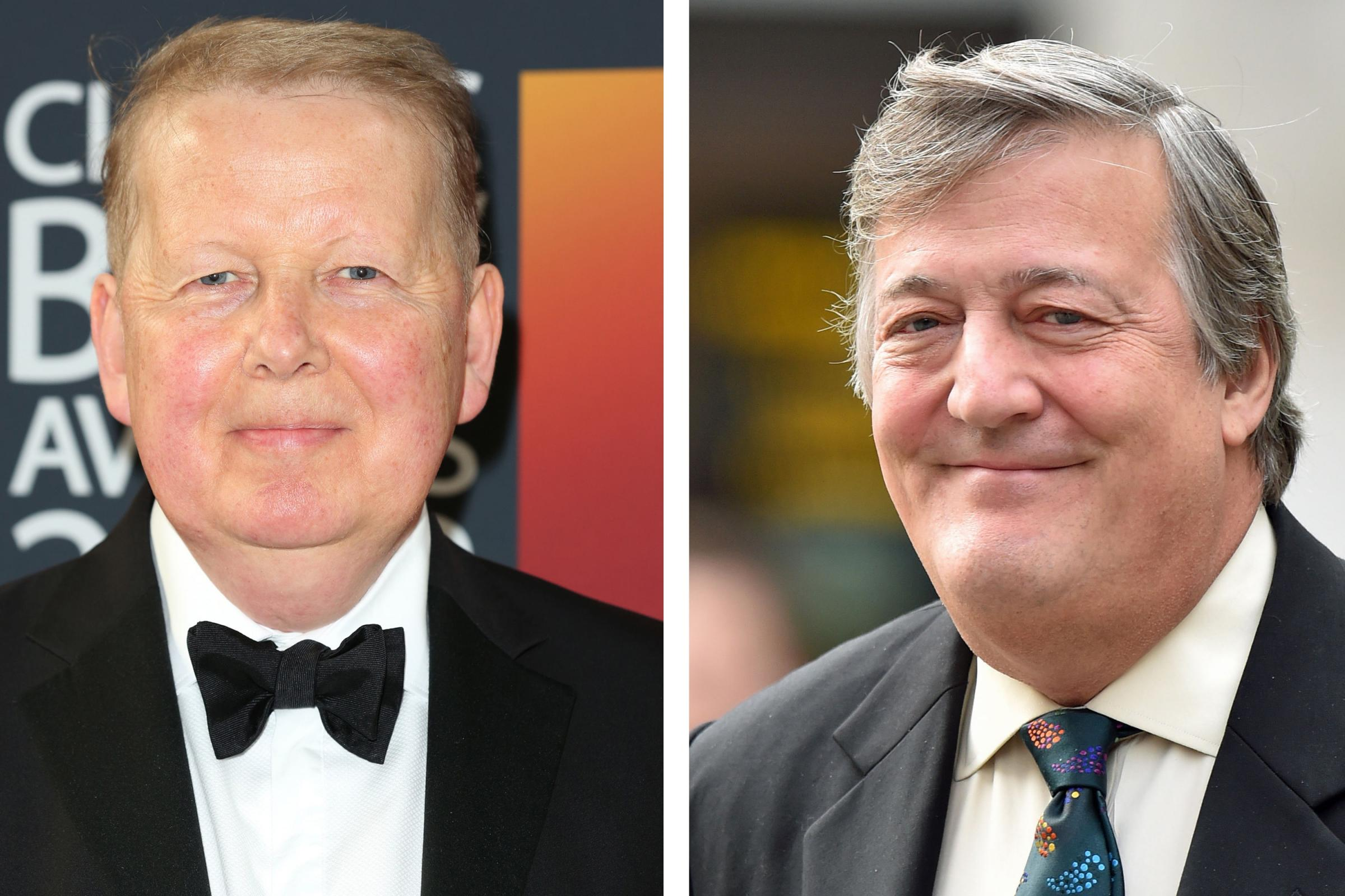 Bill Turnbull and Stephen Fry