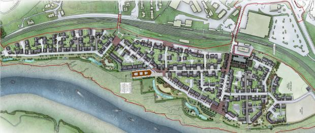 Free Press Series: An overview of the Fairfield-Mabey Bridge development. Picture: Barratt Homes