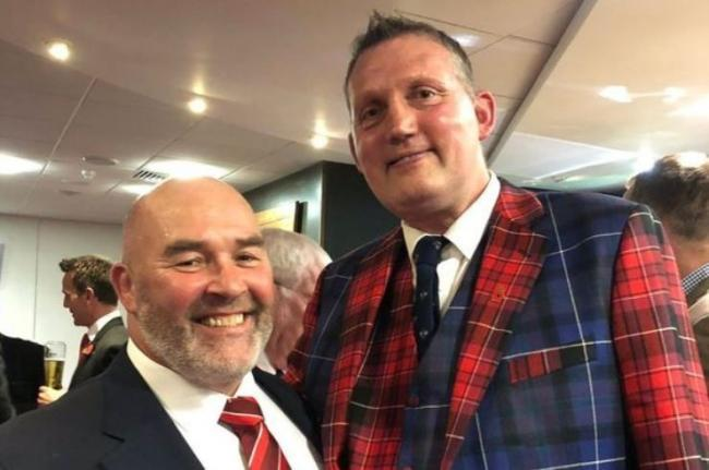 INSPIRATIONAL: Former Wales hooker Ken Waters with ex-Scotland lock Doddie Weir. Both men have been diagnosed with motor neurone disease