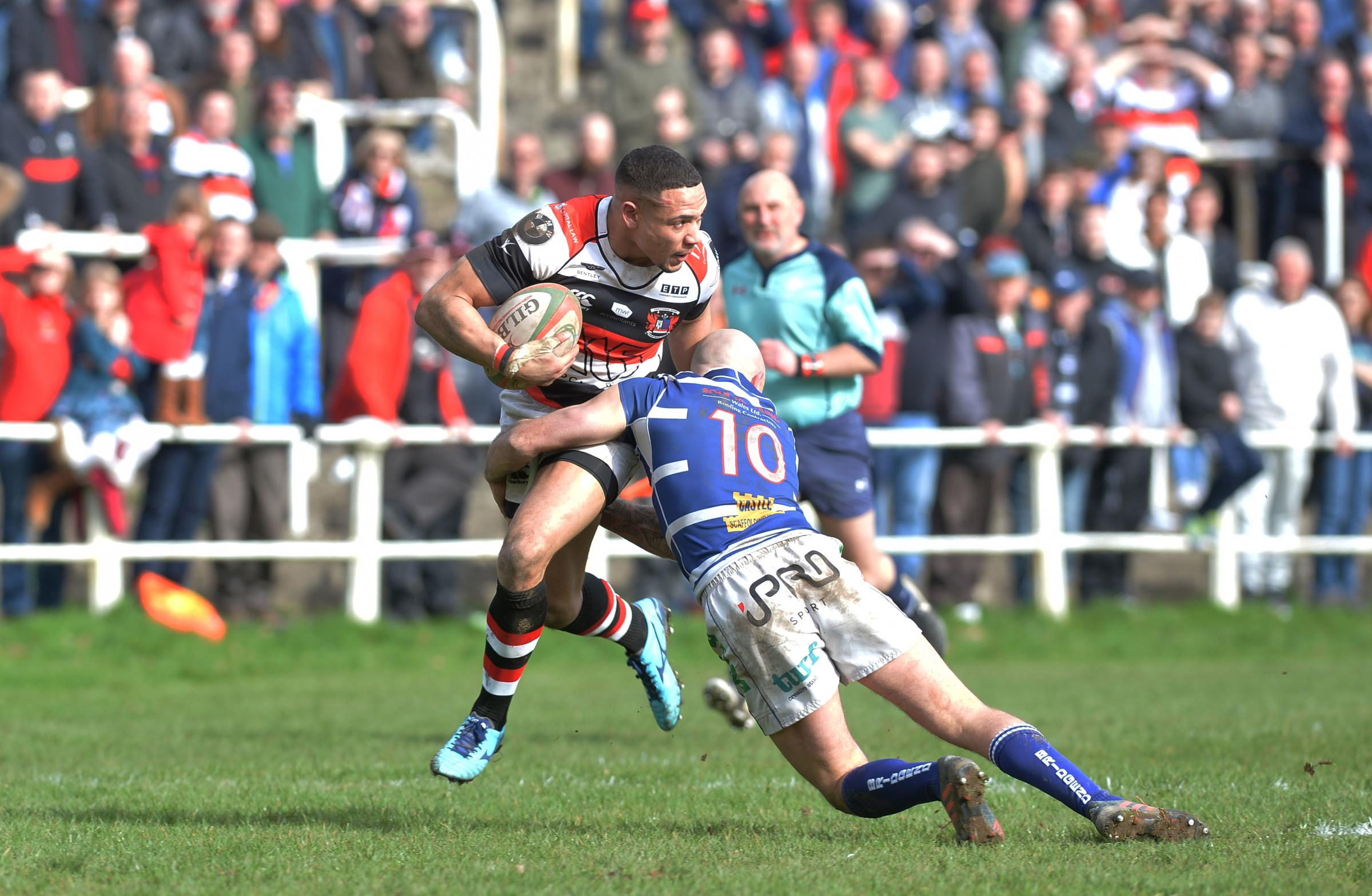 PLAY-OFF FOES? Pontypool edged out Bridgend in the cup this season and could face the Ravens again