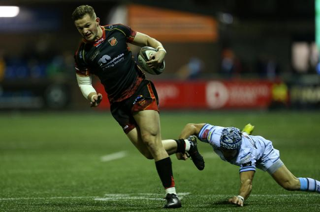 FRESH START: Wing Hallam Amos has left the Dragons for Cardiff Blues