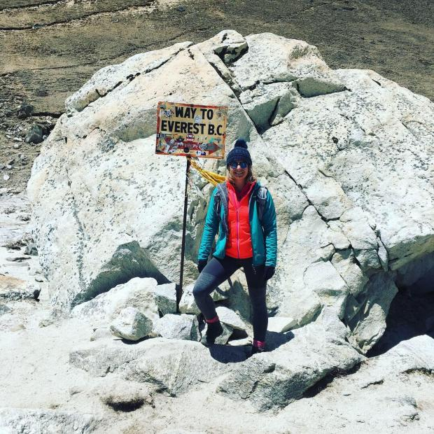 Free Press Series: Bethan Goodwin on the Everest trail.