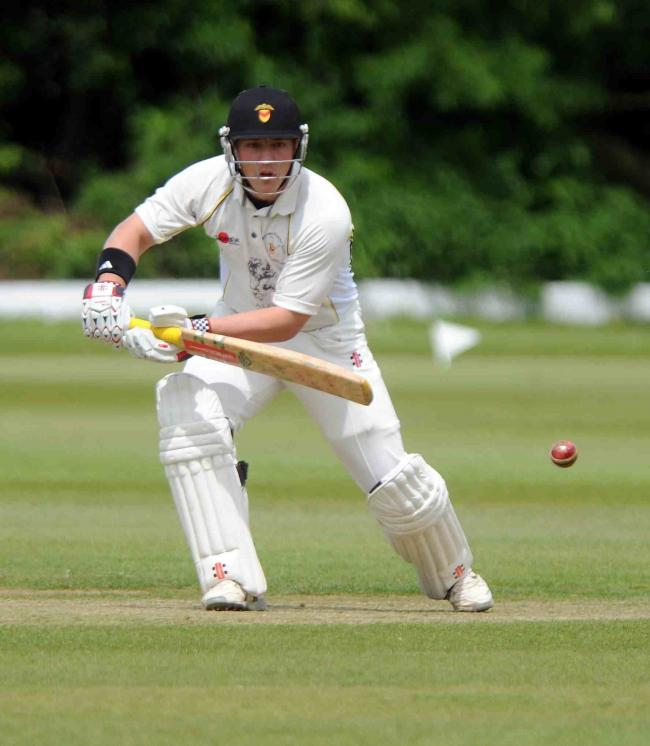 VITAL KNOCK: Acting captain Michael Clayden helped Newport get off to a winning start