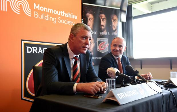 Free Press Series: NEW BOSS: David Buttress has appointed Dean Ryan as the Dragons' director of rugby