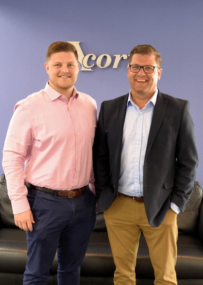 (L to R) Jack Williams and Marc Jones of Acorn Recruitment