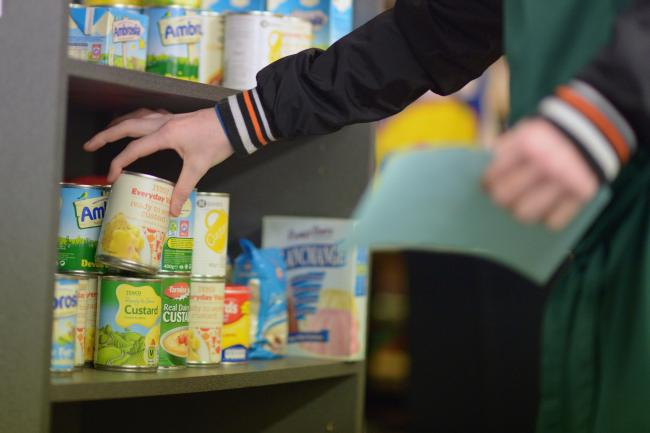 Foodbank use is on the rise in Monmouthshire  (Photo by Jeff J Mitchell/Getty Images).