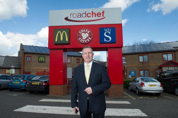 Free Press Series: Roadchef boss Simon Turl at Magor Services.