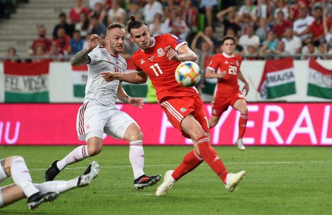 GOLDEN CHANCE: Gareth Bale squanders a gilt-edged chance to put Wales ahead in Hungary