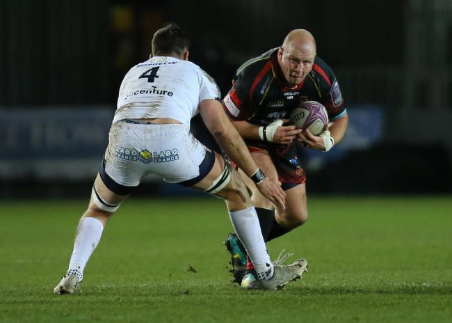 STALWART: Prop Brok Harris has signed a new Dragons contract